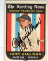 JOHN CALLISON CHICAGO WHITE SOX AUTOGRAPHED VINTAGE ROOKIE BASEBALL CARD #52513E