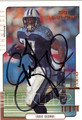EDDIE GEORGE TENNESSEE TITANS AUTOGRAPHED FOOTBALL CARD #52513F