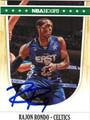 RAJON RONDO AUTOGRAPHED BASKETBALL CARD #52612B