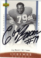 COY BACON AUTOGRAPHED FOOTBALL CARD #52612C
