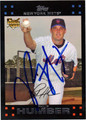 PHIL HUMBER AUTOGRAPHED ROOKIE BASEBALL CARD #52612E