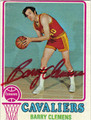 BARRY CLEMENS AUTOGRAPHED VINTAGE BASKETBALL CARD #52712C