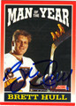 BRETT HULL AUTOGRAPHED HOCKEY CARD #52812A
