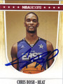CHRIS BOSH AUTOGRAPHED BASKETBALL CARD #52612K