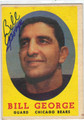 BILL GEORGE CHICAGO BEARS AUTOGRAPHED VINTAGE FOOTBALL CARD #52613E
