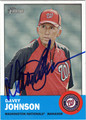DAVEY JOHNSON AUTOGRAPHED BASEBALL CARD #52812J