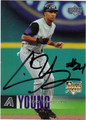 CHRIS YOUNG AUTOGRAPHED ROOKIE BASEBALL CARD #52912C