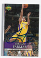 JORDAN FARMAR AUTOGRAPHED CARD #5512