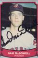 Sam McDowell Autographed Baseball Card 592