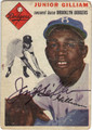 JUNIOR GILLIAM BROOKLYN DODGERS AUTOGRAPHED VINTAGE BASEBALL CARD #60113B