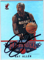 RAY ALLEN MIAMI HEAT AUTOGRAPHED BASKETBALL CARD #60113E