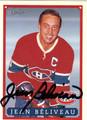 JEAN BELIVEAU AUTOGRAPHED HOCKEY CARD #60112D