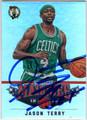 JASON TERRY BOSTON CELTICS AUTOGRAPHED BASKETBALL CARD #60313i