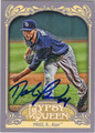 DAVID PRICE TAMPA BAY RAYS AUTOGRAPHED BASEBALL CARD #60413B