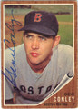 GENE CONLEY BOSTON RED SOX AUTOGRAPHED VINTAGE BASEBALL CARD #60413D