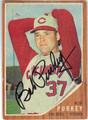 BOB PURKEY CINCINNATI REDS AUTOGRAPHED VINTAGE BASEBALL CARD #60213A