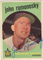 JOHN ROMONOSKY WASHINGTON SENATORS AUTOGRAPHED VINTAGE BASEBALL CARD #60413J
