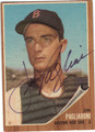 JIM PAGLIARONI BOSTON RED SOX AUTOGRAPHED VINTAGE BASEBALL CARD #60513G