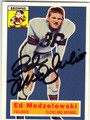ED MODZELEWSKI CLEVELAND BROWNS AUTOGRAPHED FOOTBALL CARD #60513H