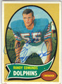 RANDY EDMUNDS MIAMI DOLPHINS AUTOGRAPHED VINTAGE FOOTBALL CARD #60413i