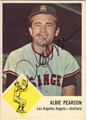 ALBIE PEARSON LOS ANGELES ANGELS AUTOGRAPHED VINTAGE BASEBALL CARD #60613B