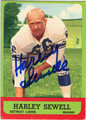 HARLEY SEWELL DETROIT LIONS AUTOGRAPHED VINTAGE FOOTBALL CARD #60613J