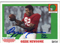 OZZIE NEWSOME CRIMSON TIDE AUTOGRAPHED FOOTBALL CARD #60713A