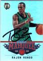 RAJON RONDO BOSTON CELTICS AUTOGRAPHED BASKETBALL CARD #60813E
