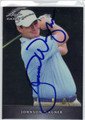 JOHNSON WAGNER AUTOGRAPHED ROOKIE GOLF CARD #60813G