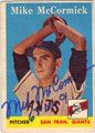 MIKE McCORMICK SAN FRANCISCO GIANTS AUTOGRAPHED VINTAGE ROOKIE BASEBALL CARD #60813H