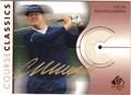 COLIN MONTGOMERIE AUTOGRAPHED PIECE OF THE GAME GOLF CARD #60912D