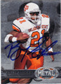 BARRY SANDERS OKLAHOMA STATE UNIVERSITY COWBOYS AUTOGRAPHED FOOTBALL CARD #60913i