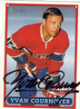 YVAN COURNOYER AUTOGRAPHED HOCKEY CARD #61012E