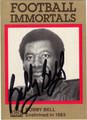 BOBBY BELL AUTOGRAPHED FOOTBALL CARD #61112H