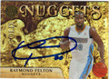 RAYMOND FELTON AUTOGRAPHED & NUMBERED BASKETBALL CARD #61212G