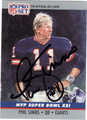 PHIL SIMMS AUTOGRAPHED FOOTBALL CARD #61212H