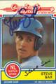 Steve Sax Autographed Baseball Card 615