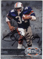 BO JACKSON AUBURN UNIVERSITY AUTOGRAPHED FOOTBALL CARD #61413C