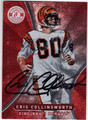 CRIS COLLINSWORTH CINCINNATI BENGALS AUTOGRAPHED FOOTBALL CARD #61413i