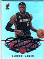 LeBRON JAMES MIAMI HEAT AUTOGRAPHED BASKETBALL CARD #61513C