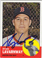 RYAN LAVARNWAY BOSTON RED SOX AUTOGRAPHED BASEBALL CARD #61513G