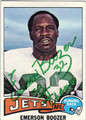 EMERSON BOOZER NEW YORK JETS AUTOGRAPHED VINTAGE FOOTBALL CARD #61813D