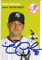 NICK SWISHER AUTOGRAPHED BASEBALL CARD #61912A