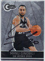 MANU GINOBILI SAN ANTONIO SPURS AUTOGRAPHED BASKETBALL CARD #61913A