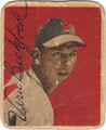 VERNON BICKFORD BOSTON BRAVES AUTOGRAPHED VINTAGE MINI BASEBALL CARD #61913D