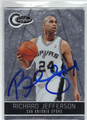 RICHARD JEFFERSON SAN ANTONIO SPURS AUTOGRAPHED & NUMBERED BASKETBALL CARD #62013E