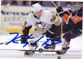 KRISTOPHER LETANG PITTSBURGH PENGUINS DEFENDER AUTOGRAPHED HOCKEY CARD #62213B