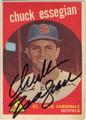 CHUCK ESSEGIAN ST LOUIS CARDINALS AUTOGRAPHED VINTAGE BASEBALL CARD #62213C