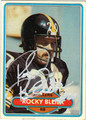 ROCKY BLEIER AUTOGRAPHED FOOTBALL CARD #62411G