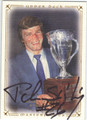 PETER STASTNY QUEBEC NORDIQUES AUTOGRAPHED HOCKEY CARD #62213D